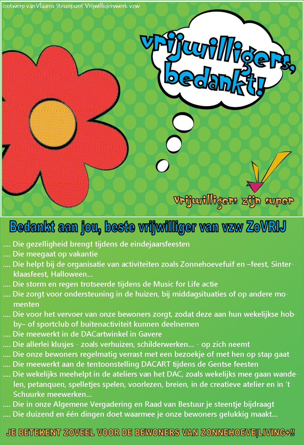 2014-03-01 Bedankingskaartje Week vd vrijwilliger