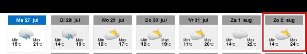 weersvoorspelling