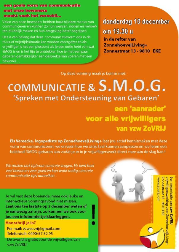 20151210 Uitnodiging vorming communicatie en SMOG