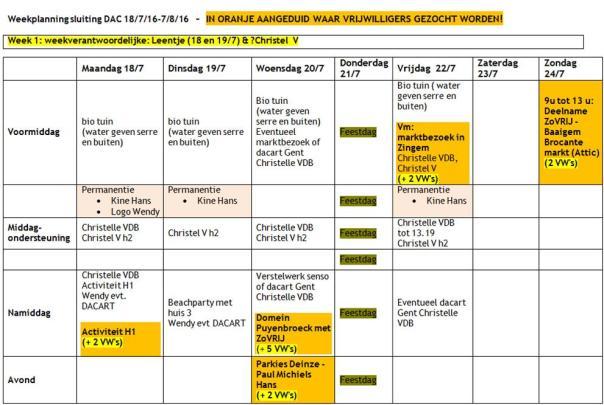 2016 weekplanning zomervakantie W1