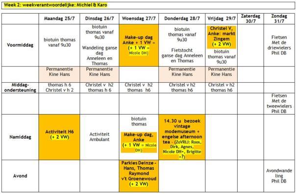 2016 weekplanning zomervakantie W2