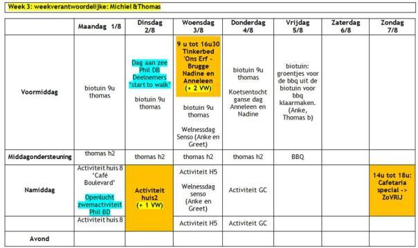 2016 weekplanning zomervakantie W3